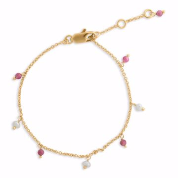 Armbånd rosa/perle