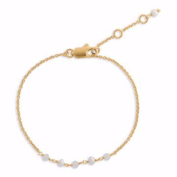 pure armbånd med perler guld