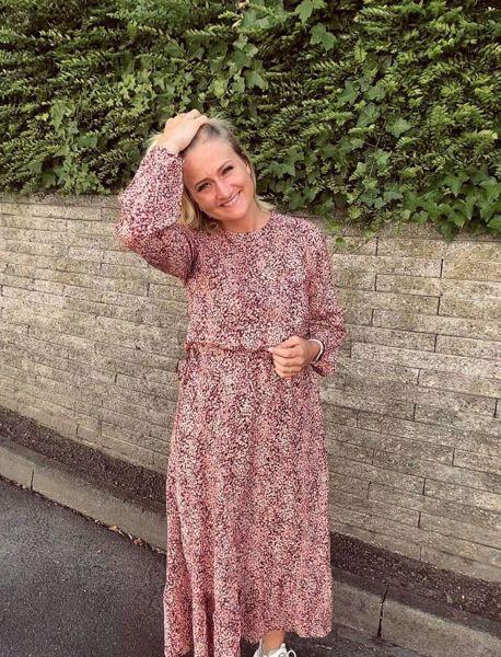 Lang blomstret kjole Moss Copenhagen